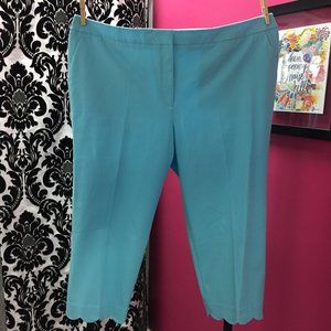 NWT Talbots Slim Crop Pants 24W